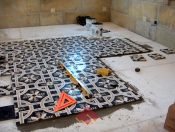 Ceramic tile on concrete