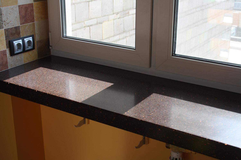 Подоконники из искусственного камня цены киев столешница для кухни - красная не камень